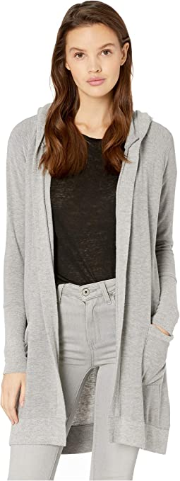Cozy Knit Open Front Hooded Cardigan with Pockets