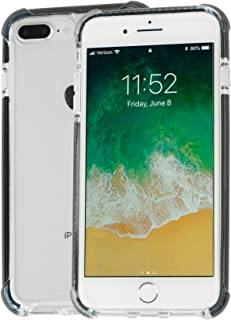 Idea Promo Clear Case Compatible for iPhone 7 Plus / 7s Plus / 8 Plus, Shock-Absorption and Anti Scratch, Slim, Reinforced Corner, Rubber Bumper, Shockproof Protective (Black)