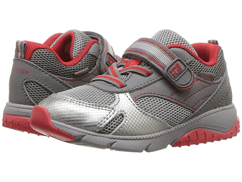 Stride Rite M2P Indy (Toddler) (Grey/Red) Boys Shoes