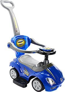 manual Ride On car for kids blue