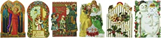 24 Greeting Card Assortment By Punch Studio, Holiday Christmas Victorian Ephemera with Cats, Dogs, St Nick, Santa, Botanicals, Angels, Children...
