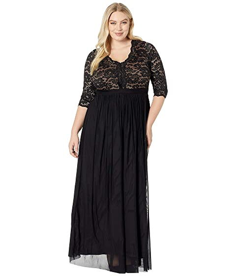e47c84c1a8a Kiyonna Jasmine Lace Evening Gown at Zappos.com