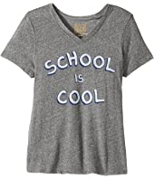 The Original Retro Brand Kids School Is Cool Short Sleeve Tri-Blend V-Neck Tee (Big Kids)