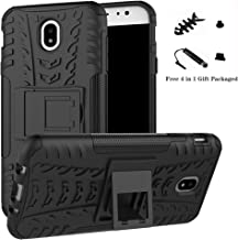 Galaxy J7 Pro 2017 case,LiuShan Shockproof Heavy Duty Combo Hybrid Rugged Dual Layer Grip Cover with Kickstand For Samsung Galaxy J7 Pro J730G 2017 Smartphone (With 4in1 Packaged),Black