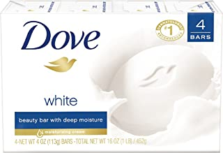 Dove Beauty Bar, White, 4 Ounce (Pack of 4)