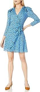 Rebecca Taylor Long Sleeve Polka Dot Wrap Dress