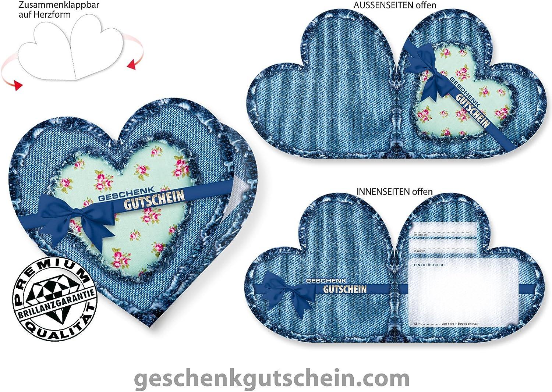 50 Stk. Herz-Gutscheine FA450 für Mode, Fashion und Bekleidung B00SYCZI7Q   | Sale