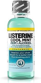 Listerine Cool Mint Zero Alcohol Mouthwash, 3.2 oz (Pack of 24)