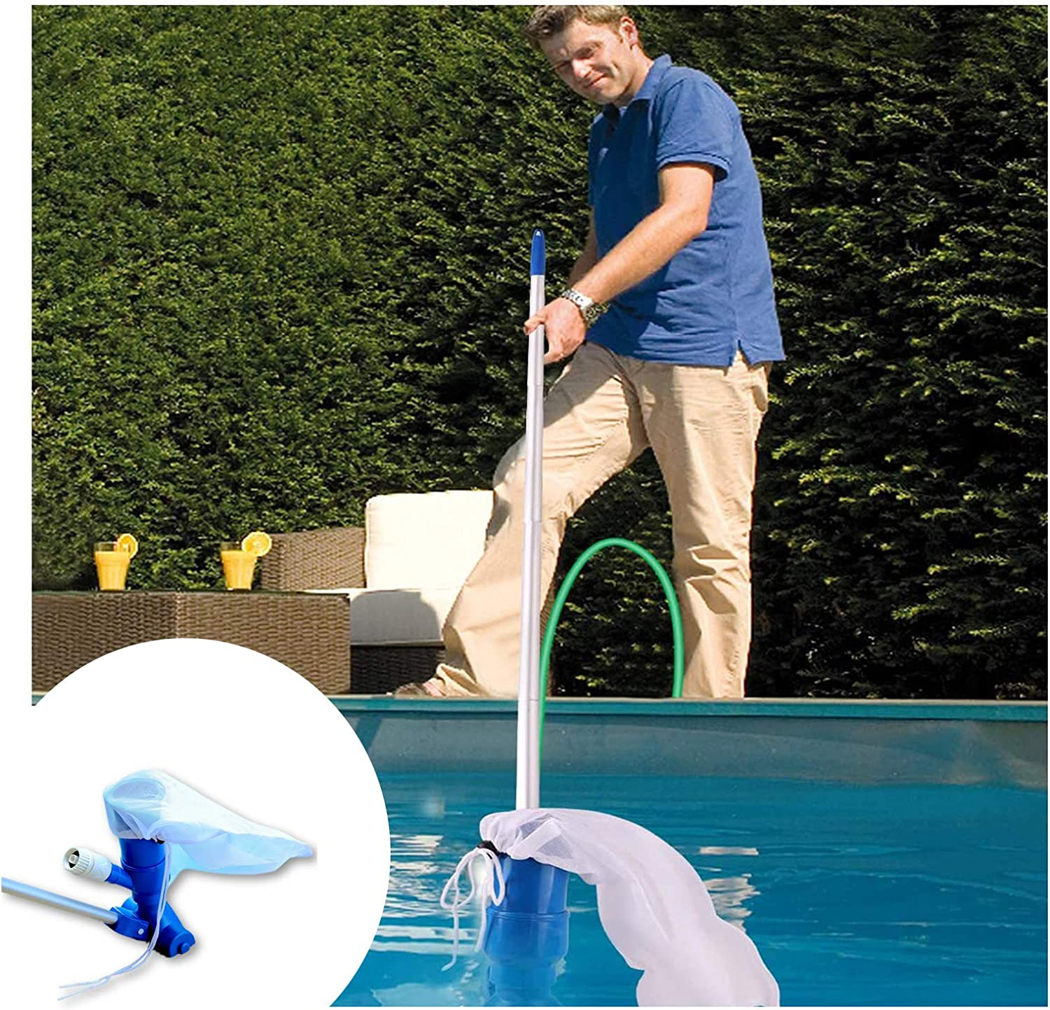 Swimming Pool Handheld Vacuums Hydraulic Uncharged Vacuum Max 80% OFF free shipping C
