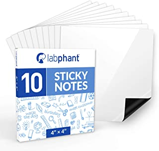 Dry Erase Sticky Notes - 10 Pack of 4x4 Inch; Adhesive Free Reusable Whiteboard Stickers for Smooth Surfaces; No More Pape...