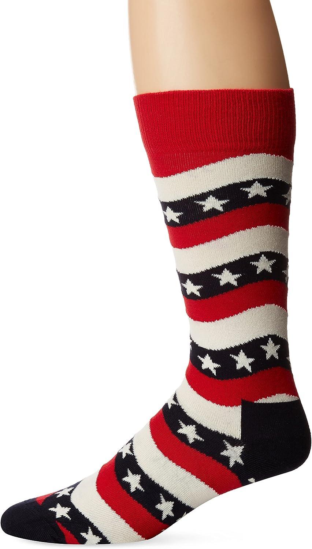 Happy Socks Mens Wavy Stripe Socks