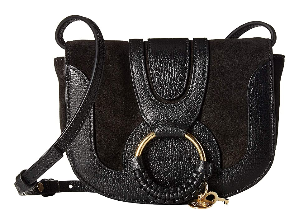 See by Chloe Hana Small Leather Crossbody Bag (Black) Handbags