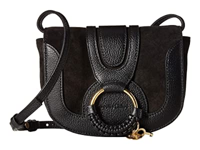 See by Chloe Hana Small Leather Crossbody Bag (Black) Handbags