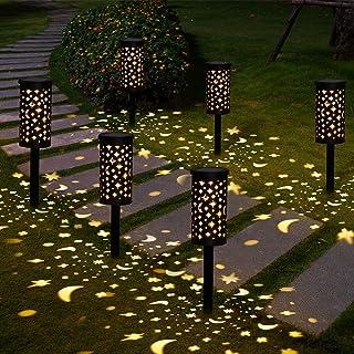 Lampada Solare Giardino Esterno Golwof 6 Pezzi Luce Solare Giardino LED Impermeabile Luci Solari Esterno Giardino Decorati...