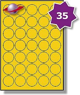 1500 Etichette Label Planet/® Carta Fotografica Bianca Lucida Rotonda per Stampanti a Getto dInchiostro e Laser 88mm Diametro LP6//88 R GWPQ. 250 Fogli 6 Par Foglio
