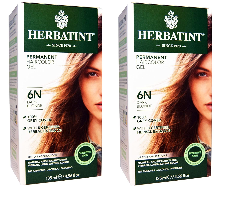 Herbatint 6N Dark Max 52% OFF Blonde Permanent Max 63% OFF of Pack 2 Alcohol Haircolor