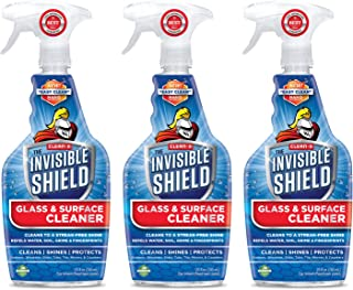 Invisible Shield® Glass & Surface Cleaner – 25 oz- 3 Pack - Cleans, Seals and Protects from Water Spots by Clean-X® Invisible Shield®