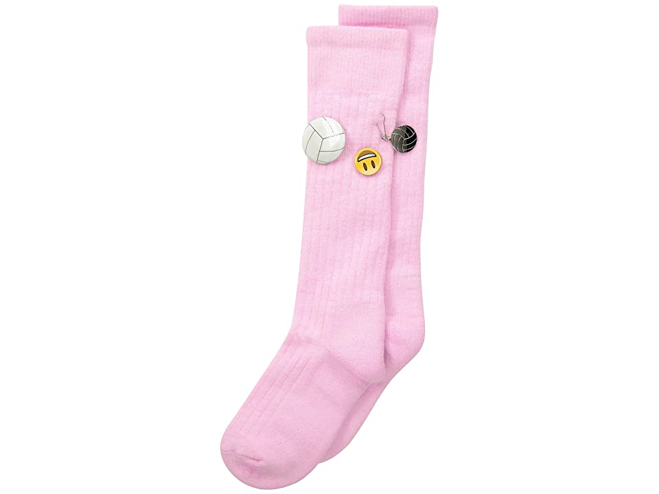 Thorlos Express Yourself Volleyball Over the Calf Single Pair (Pink) Crew Cut Socks Shoes