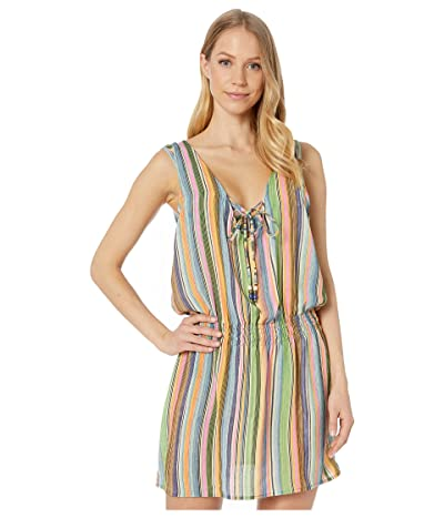 BECCA by Rebecca Virtue East Village Mila Sleeveless Tunic Cover-Up (Blue Shadow) Women