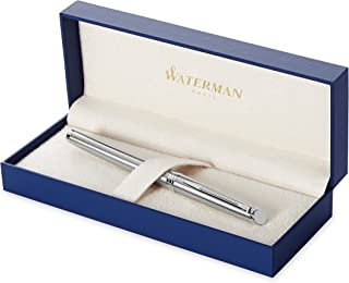Waterman Hemisphere Stainless Steel, Fountain Pen with Medium nib and Blue ink (S0920430)