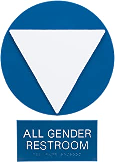Advantus Gender Neutral ADA Sign Business and Store Sign, Blue/White (97081)
