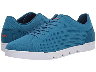 SWIMS Breeze Tennis Knit Sneakers (Seaport Blue/White) Men