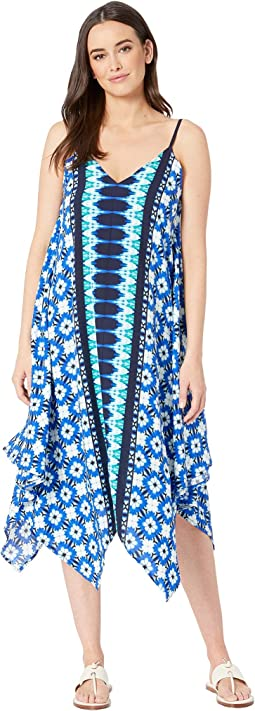 Tide Seashell Engineered Scarf Dress Cover-Up