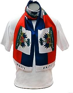 Haiti Flag Print Scarf 64