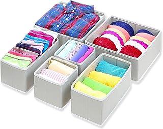Mmbox Simple Houseware Boîtes de rangement pliable en tissu pour tiroir, armoire, commode, organiseur, panier pour sous-vê...