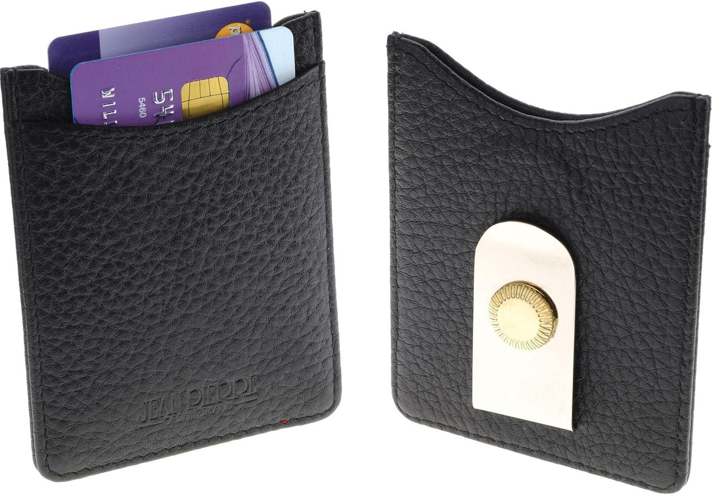 I LUV LTD Black High order Leather Mail order Credit in Card with Money Wallet Holder