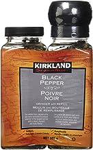 Kirkland Signature Black Pepper Adjustable Grinder with Refill, 12.6 Ounces