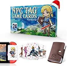 24 Pcs NFC Tag Game Cards for the legend of Zelda Breath of the Wild BOTW, TLOZ Series NFC Tag Game Cards, Portable Leathe...