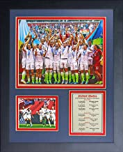 Legends Never Die World Cup Soccer Unisex World Cup Soccer Framed Photo Collage, Team USA Women's, 11-Inch by 14-Inch