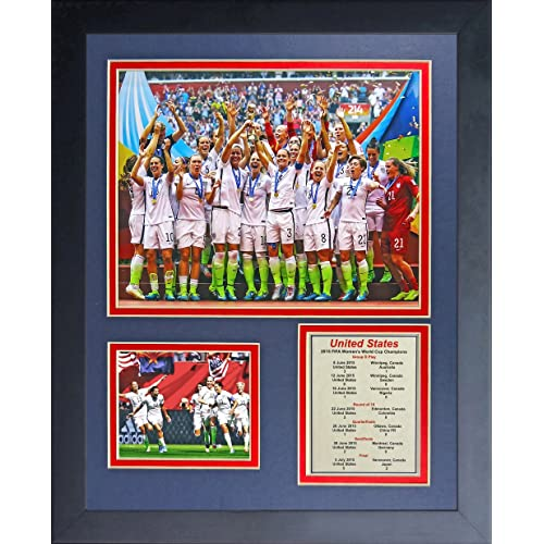 Legends Never Die World Cup Soccer Unisex World Cup Soccer Framed Photo Collage, Team USA