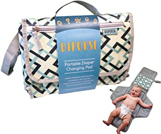 Dipurse Portable Changing Pad Diaper Changing Station   41 inches x 23 inches   Stylish Trendy Design   Sturdy Material - Easy to Wash for Baby Shower Registry