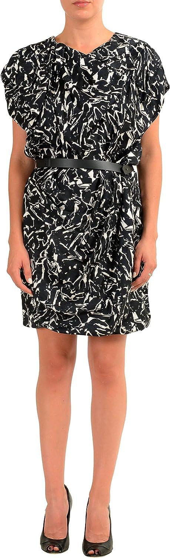 Viktor & Rolf Multi-Color Sleeveless Women's Belted Sheath Dress US M IT 42