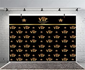 HD Hollywood Backdrop Golden Crown VIP Spot 5X7ft Photography Background Themed Party Photo Booth YouTube Backdrop GEMT1479