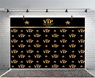 Leyiyi 7x5ft Photography Background VIP Red Carpet Event Backdrop Happy Birthday Summer Party Crown Golden Stars Music Banquet Bridal Shower Baby Shower Photo Portrait Vinyl Studio Video Prop