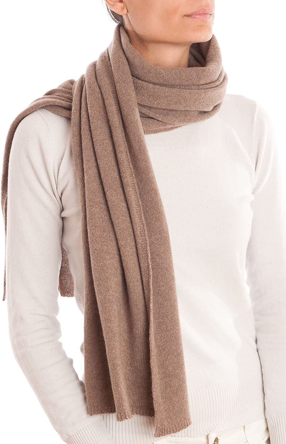 Dalle Piane Cashmere - Scarf 100% cashmere - Made in Italy - Woman/Man, Color: Mink, One size