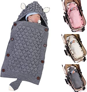 seguro saco de dormir y saco de dormir acolchado c/álido gris Talla:talla /única manta para beb/é reci/én nacido Saco de dormir de lana aislado para reci/én nacido para beb/és de 0 a 12 m c/ómodo