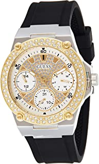 GUESS Womens Quartz Watch, Analog Display and Silicone Strap W1291L1