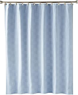 SKL Home by Saturday Knight Ltd. Large Basketweave Fabric Shower Curtain, Blue