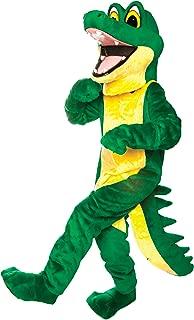 Gator Mascot Costume Green and Yellow