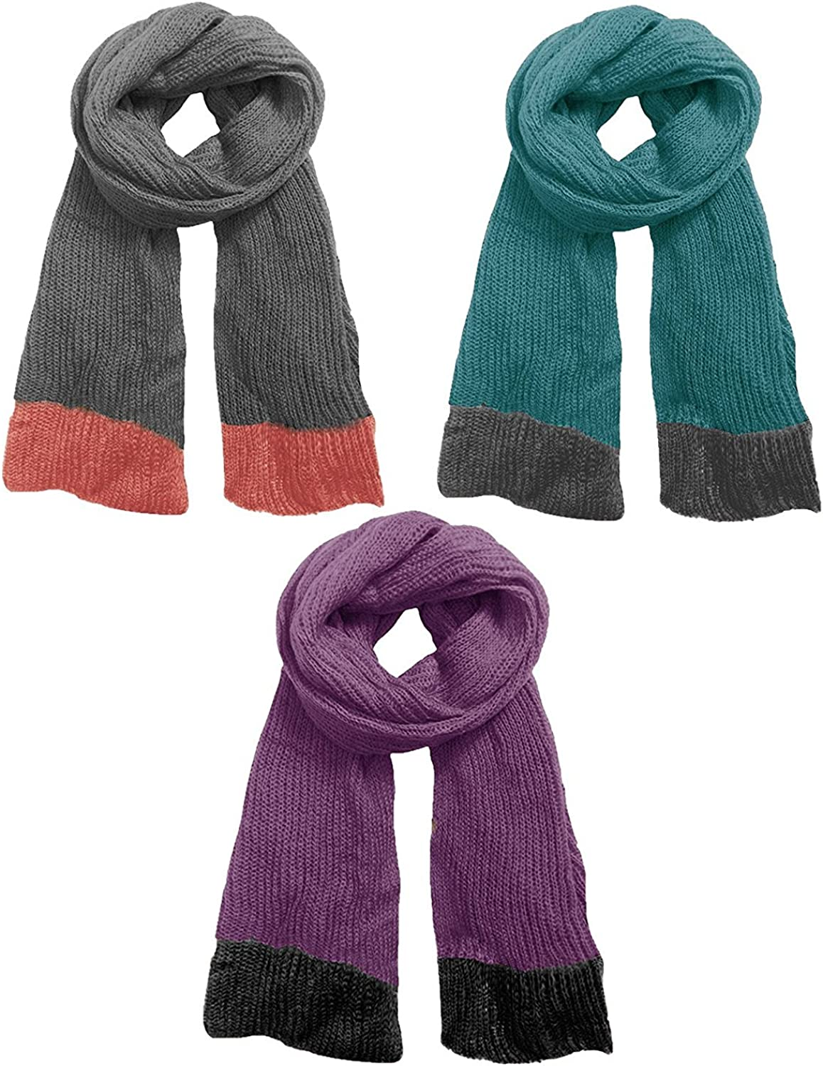 Peach Couture Warm and Cozy Unisex Fashion Knit Long Loose Hand Knit Scarf Wrap Shawl