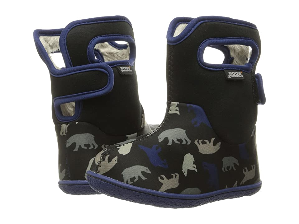 Bogs Kids Baby Classic Polar Bears (Toddler) (Black Multi) Boys Shoes