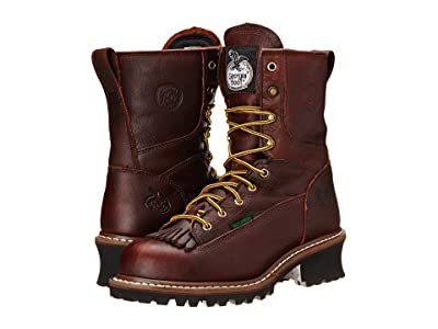 Georgia Boot Logger 8 Waterproof ST w/ Removable Kiltie (Tumbled Chocolate) Men