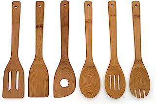 Lipper International 826 ابزار آشپزخانه چوب بامبو در مش کیسه ، مجموعه 6 تکه