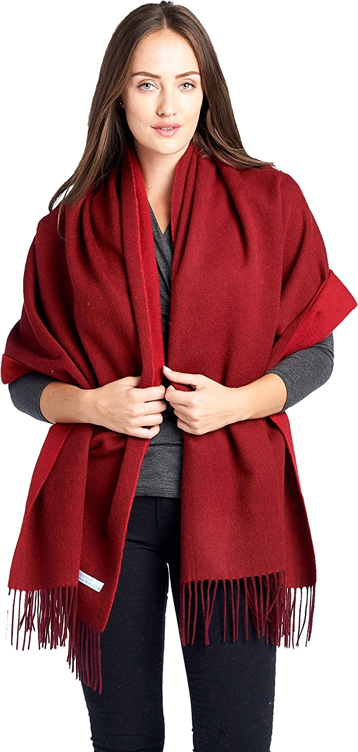 High Style 100% Lambswool wool Women Oversized Large Pashmina Scarf Stole Shawl (Various colors and Designs)