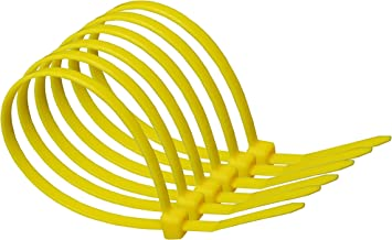 100mm x 2.5mm Yellow Nylon Cable Ties (pack of 20)