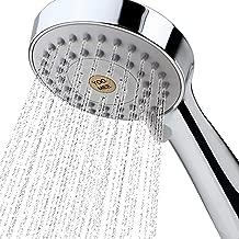 YOO.MEE High Pressure Handheld Shower Head with Powerful Shower Spray against Low Pressure Water Supply Pipeline, Multi-functions, w/ 79'' Hose, Bracket, Flow Regulator, Chrome